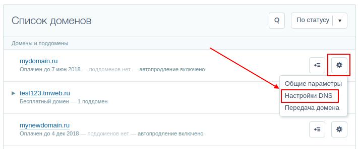Как подключить домен к Тильде на Timeweb