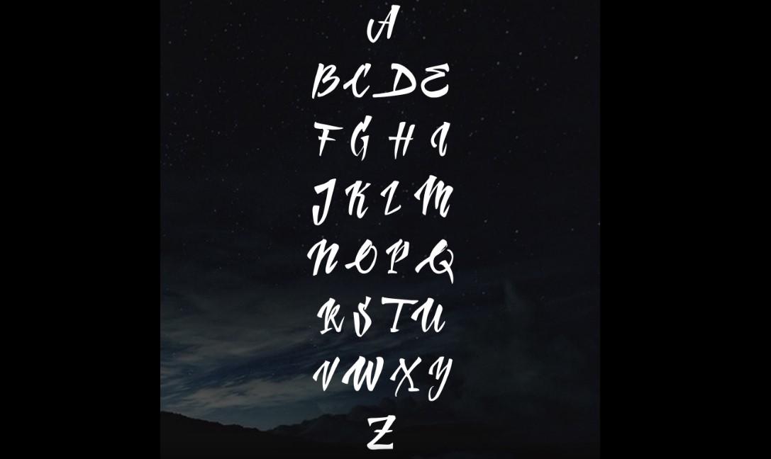 Стиль леттеринга при использовании шрифта Handletter