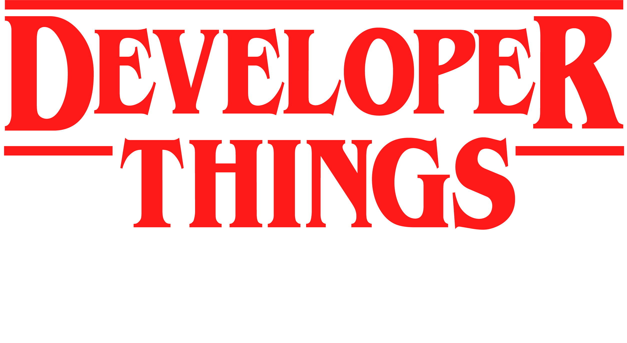 Логотип подкаста Developer Things
