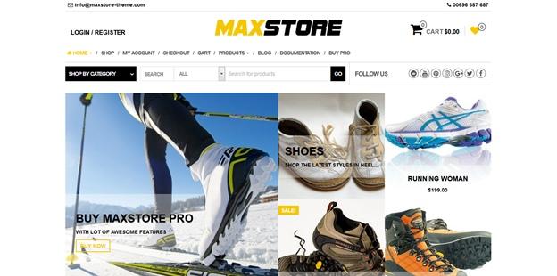 maxstore бесплатный шаблон на wordpress