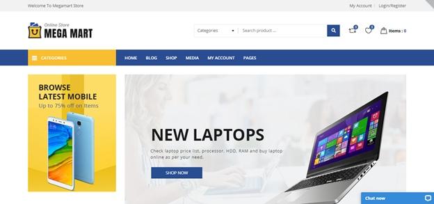 шаблон для интернет-магазина цифровой техники Megamart