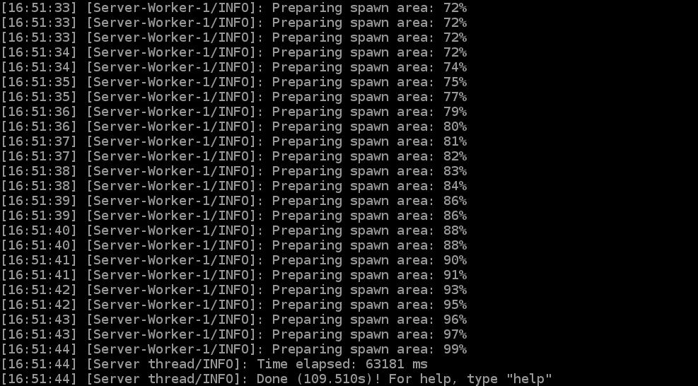 Подключение к выделенному серверу Майнкрафт успешно завершено