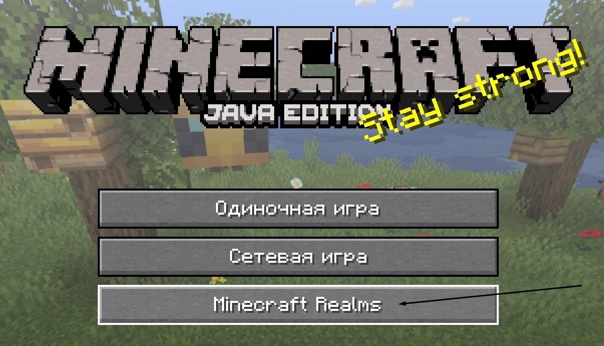 Как купить и подключить в Minecraft сервер Realms